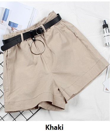 WP473 Korean Trendy Loose Type Casual Short Pant with Belt Stretchable waistband - Sportantz