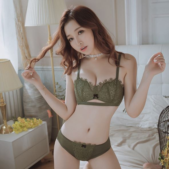 Embroidery Lingerie Set For AB Cup - Sportantz