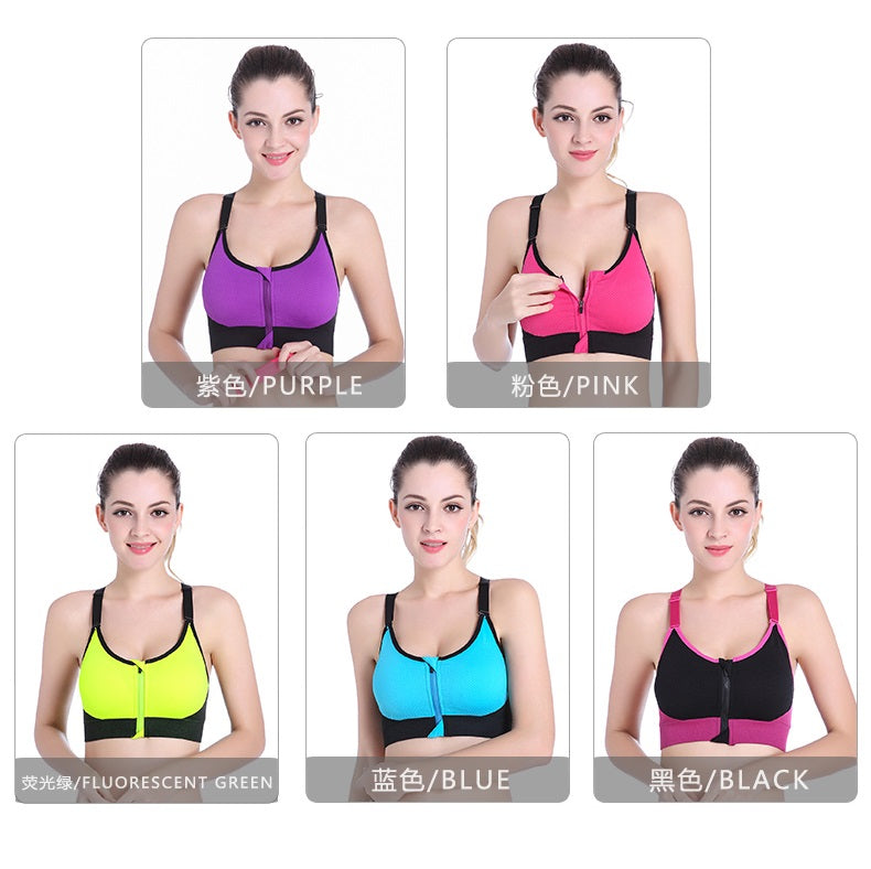 Zipper Sport Bra SB002 - Sportantz