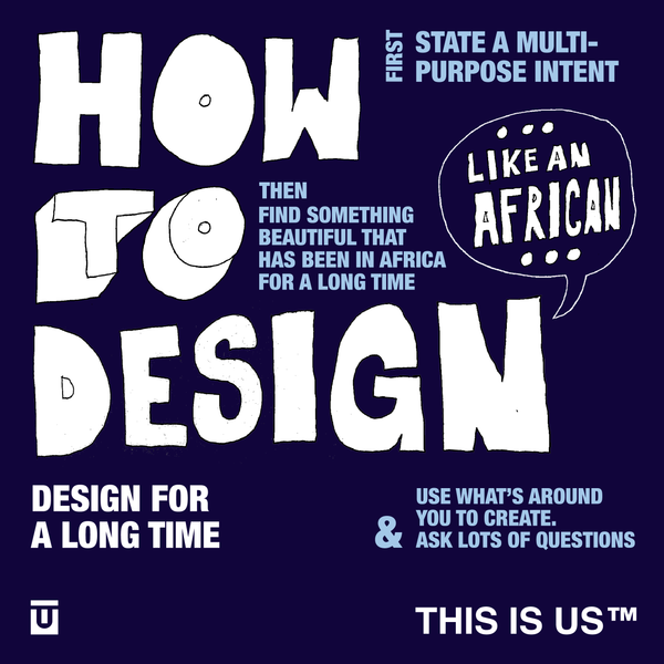 How to design like an African