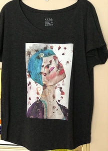 SOLD -Art Tee Shirt - Vida Tees - Time to Smell the Roses