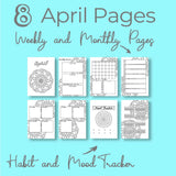 April Journal Planning Pages - Mandala Theme