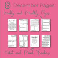 December Journal Planning Pages - Mandala Theme