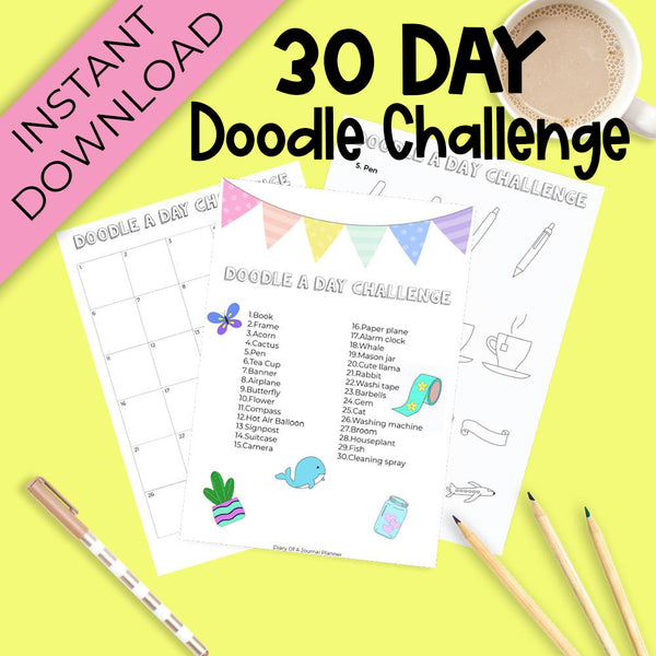 30 Day Doodle Challenge Printable