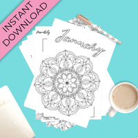 January Journal Planning Pages - Mandala Theme