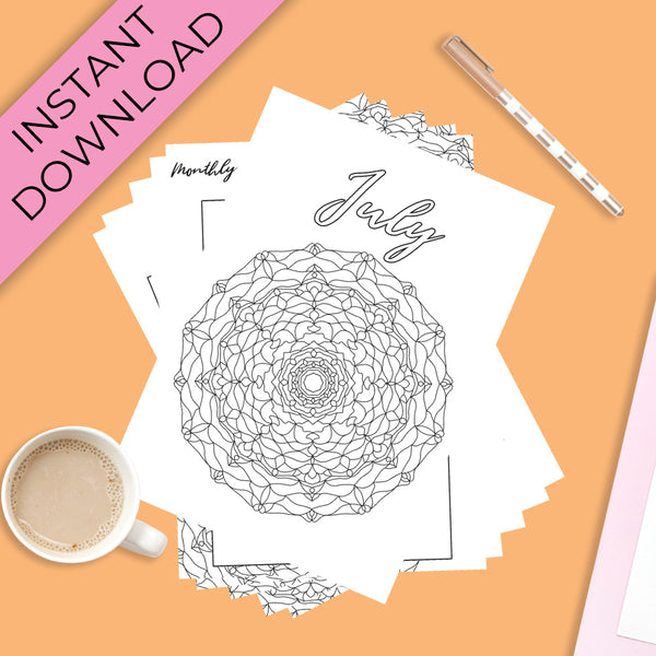 July Journal Planning Pages - Mandala Theme