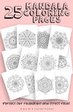 Mandala Coloring Book - 25 Printable Coloring Pages