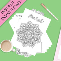 March Journal Planning Pages - Mandala Theme