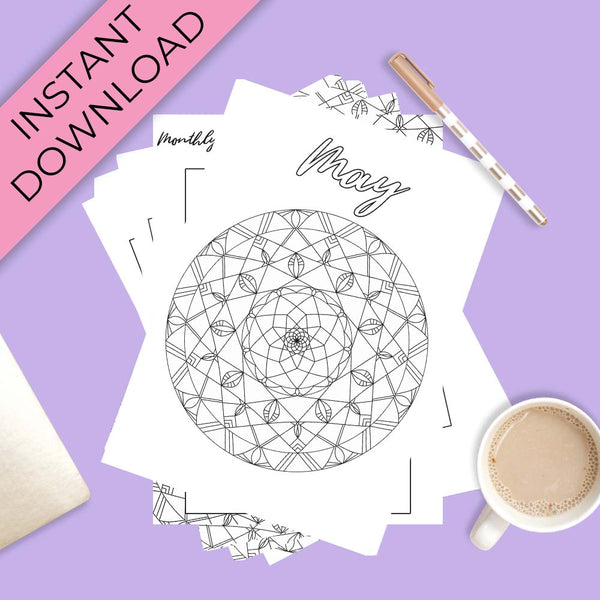 May Journal Planning Pages - Mandala Theme