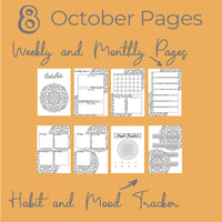 October Journal Planning Pages - Mandala Theme