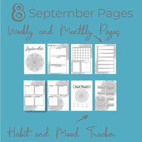 September Journal Planning Pages - Mandala Theme