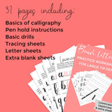Lettering Sheets for Large Brush Tip Pens