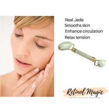 Load image into Gallery viewer, Real Jade Roller Massage Relaxation Facial Smoothing Anti Wrinkle - RetinolMagic