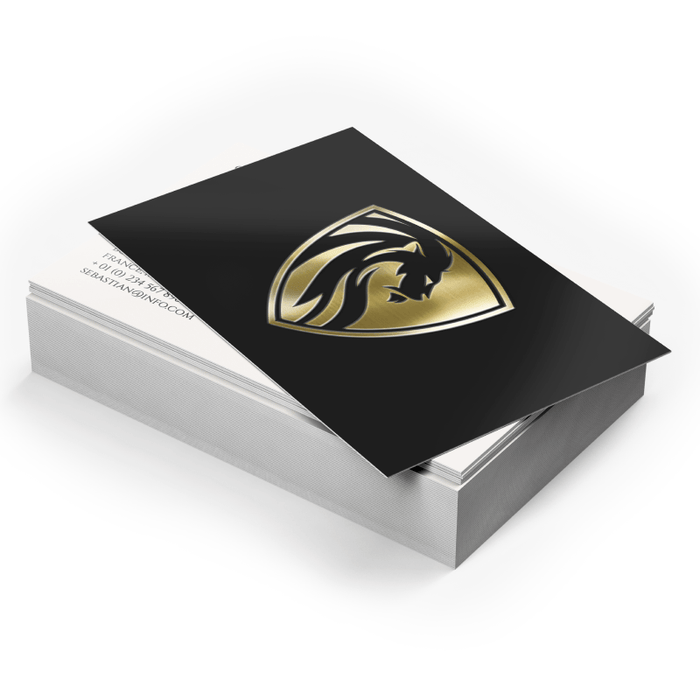 Matte Lamination + Gold/Silver Foil • Turnaround: 5 Business Days