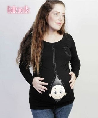 Autumn women maternity t-shirt full sleeve tops pregnancy clothes cartoon casual sweatshirt mother's maternity tops clothes