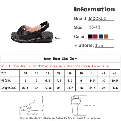 Women Sandals Summer Female Shoes Women's Peep Toe Wedge Woman Comfortable Plus Size Female Platform Ladies 2020 New