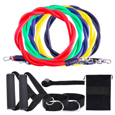 11-Piece Fitness Resistance Bands Set