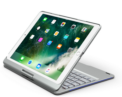 Five ipad universal 360 degree rotating with breathing light Bluetooth keyboard