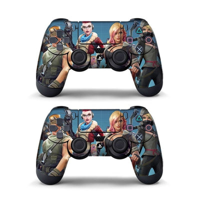 Data Frog 2Pcs For Fortress Night Sticker For Sony PlayStation4 Game Controller For PS4 Skin Stickers
