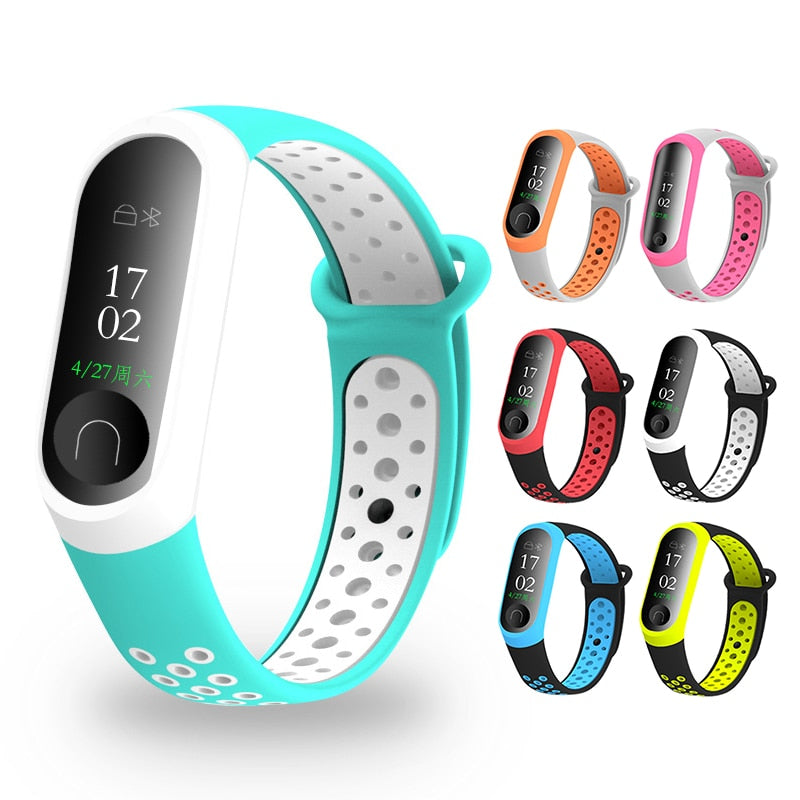 Newest Millet Silica Bracelet 3 4 Wristband Smart Sports Bracelet Replacement For Xiaomi Mi band 3 4 Wristband Fitness Watch