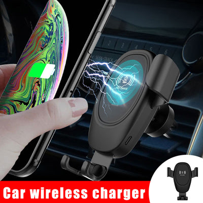 Car Mobile Phone Wireless Charger Holder Bracket 360 Degree Rotating Portable for Driving JFlyer