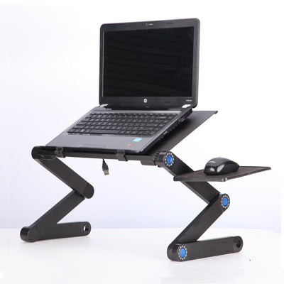 Aluminum alloy laptop desk foldable bed desk dormitory lazy radiator bracket standing desk