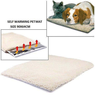 Self Heating Dog Cat Blanket Pet Bed Thermal Washable No Electric Blanket Super Soft Puppy Kitten Blanket Beds Mat