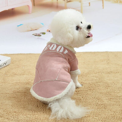 Cute Dog Jacket Winter Warm Puppy Dog Clothes Thickening Fleece Pet Outfits Coat For Small Dogs Chihuahua Bichon Pets Clothing