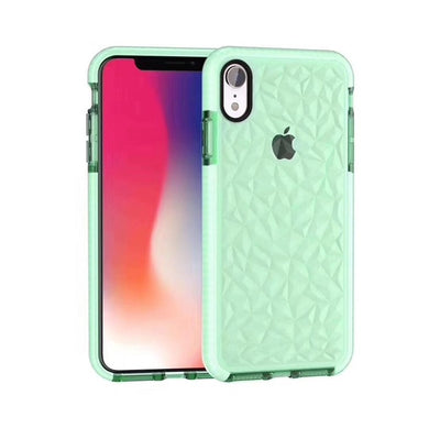 Explosive two-color diamond transparent soft shell for iphoneX XR XSMAX 6 7 8plus diamond mobile phone case