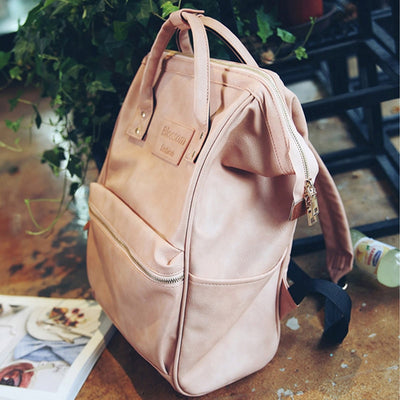 Mummy Diaper Backpacks Fashion Nappy Bag Large Capacity Baby Nursing Handbag High Quality PU Leather Travel Backpack MBG0150
