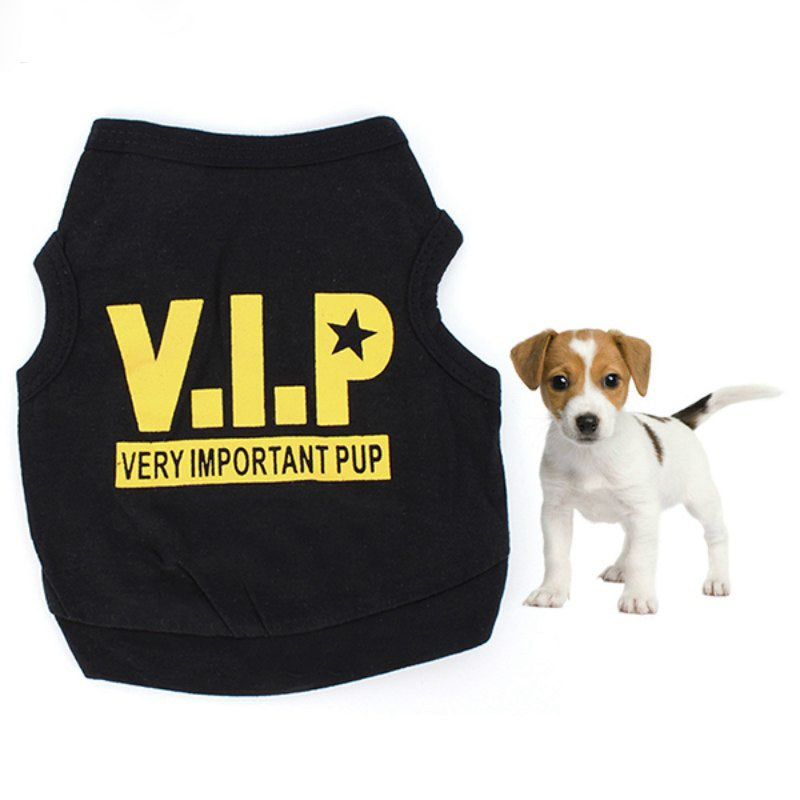 Dog Tshirt VIP Pets T-shirts For Dogs Goods For Pets Dog Shirt Clothes Summer