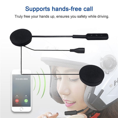 MH01 Motor Wireless Bluetooth Headset Motorcycle Helmet Earphone Headphone Dual Stereo Speaker Handsfree Music For MP3 MP4 phone