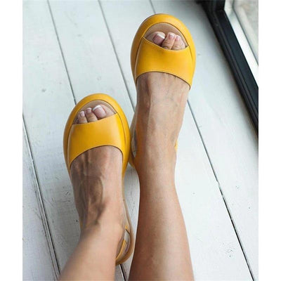 Women Sandals Fish Mouth Elegant  Ladies Shoes Slip On Solid  Female Single Shoes Casual Soft Office Flats