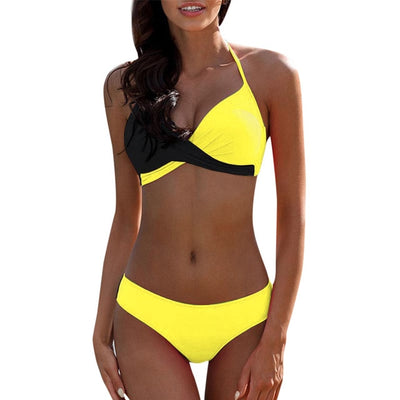 Bikinis Womens Padded Push-up Bra Bikini Set Swimsuit Bathing Suit Swimwear