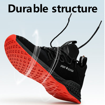 Steel Toe Safety Shoes Industrial & Construction Puncture Proof Summer Men Women Breathable Mesh Work Shoes Protective Footwear