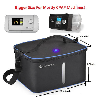 UV Led&Ozone Sterilizer Bag Portable Ozone Disinfector Case For Sanitizling CPAP machines Mask Tube and other accessories