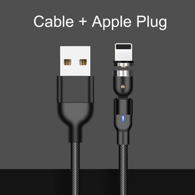 540 Degree Rotatable Apple Magnetic Charger For iPhone Cable USB C Magnetic Micro USB Cable Type C Gaming Cord Wire For Charging