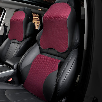 1PCS memory foam cute car seat headrest pillow solid for the neck rest waist back support cushion set pillows auto accessories