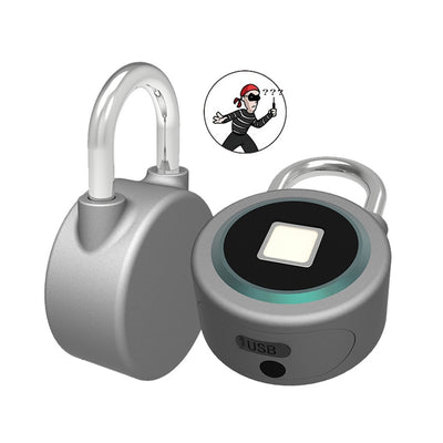 Fingerprint Smart Keyless Lock Waterproof APP Button Password Unlock Anti-Theft Padlock Door Lock