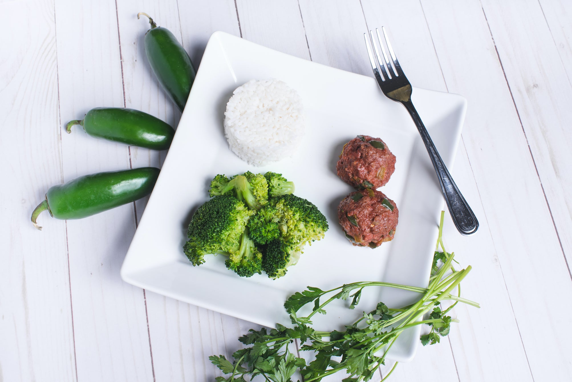 Jalapeño Balls with Rice & Broccoli-Plant Based