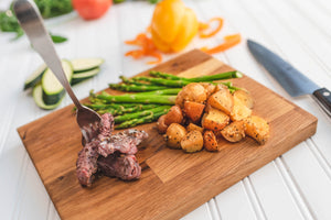 Montreal Sirloin Strip with Roasted Baby Potatoes & Asparagus