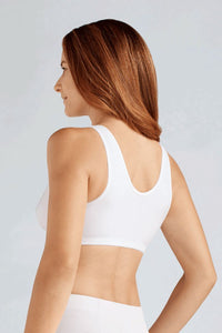 Frances Non-Wired Front Closure Bra (White)