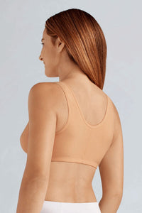 Frances Non-Wired Front Closure Bra (Nude)