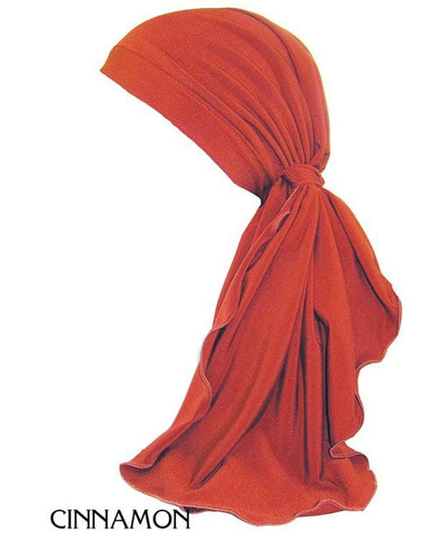 Different Colored Pre-Tied Long-Tailed Scarf