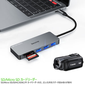 iMXPW SANTORA 7 in 1 USB 3.1 Type-C to HDMI Multiport Adapter