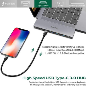 iMXPW OCTANO MacBook Pro USB Adapter , 40Gbps Thunderbolt 3 Hub