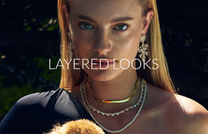 Shop easy layering necklaces from FALLON Jewelry.  Shop crystal tennis necklaces and herringbone chains.