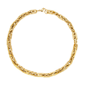 BOLT CHAIN NECKLACE - GOLD