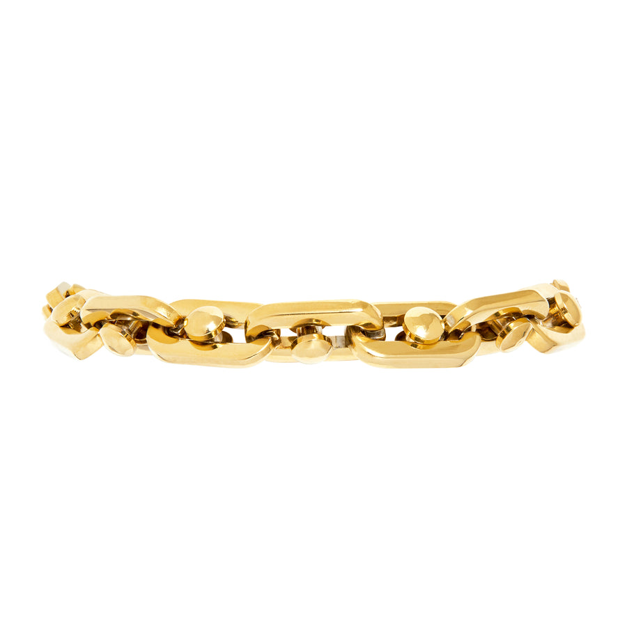 BOLT CHAIN BRACELET - GOLD