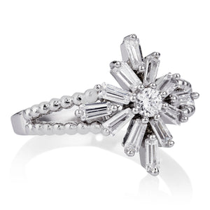 DECO TRIPLE RING - RHODIUM